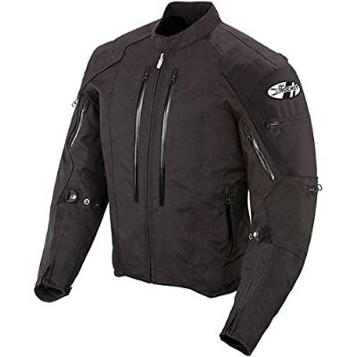 giacca moto in tessuto